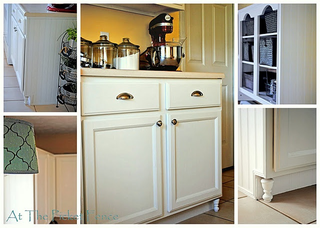Make Your Own Frugal Kitchen Cabinet Feet At The Picket Fence Home Design Idea