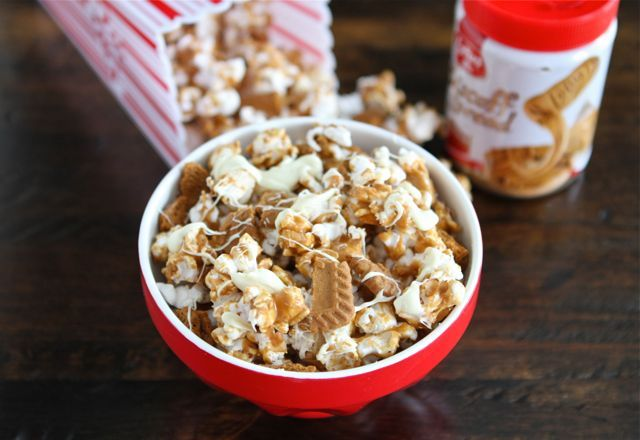 """Biscoff Cookie Popcorn with White Chocolate - """"...I am not ashamed to ..."""