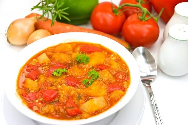 "Provencal ""Stoup"" (Stew-like Soup): chicken, potato, carrot, zucchi..."