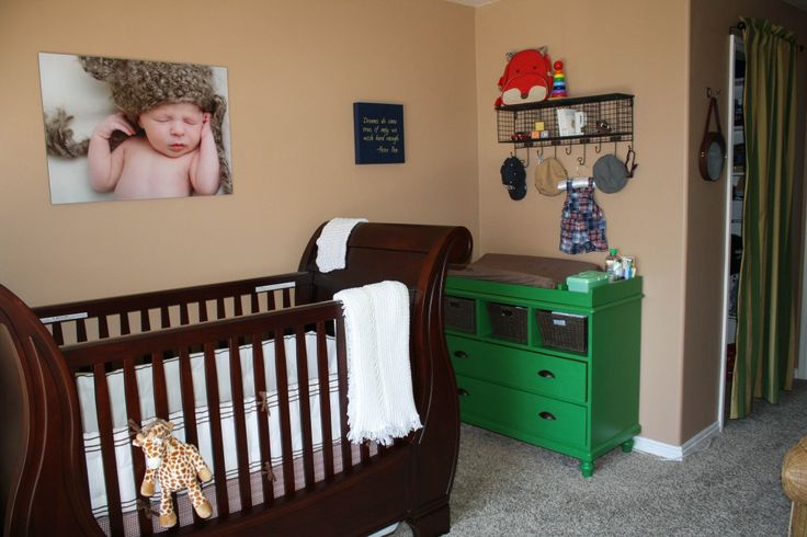 Classic Baby Boy Nursery - adore this green dresser/changing table! #nursery #babyboy