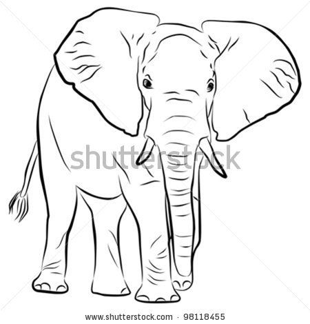 Elephant stencilElephant Head Stencil