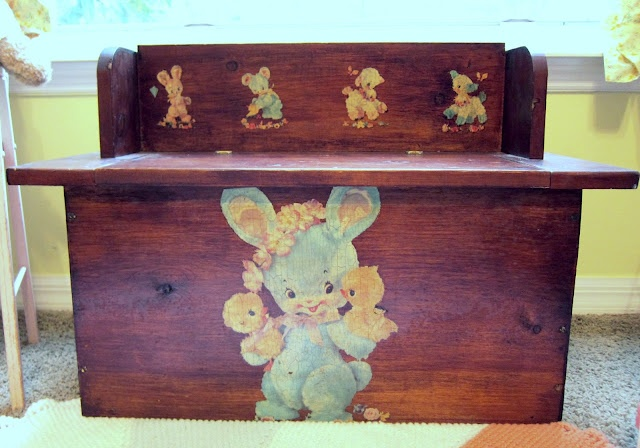 adorable vintage toybox #decal #bunny