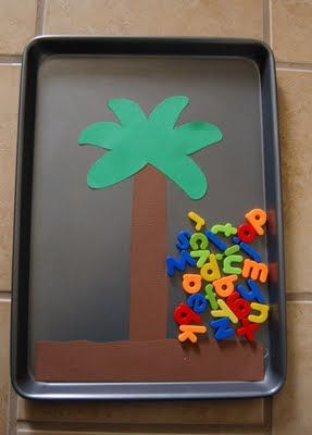 """Great way to make """"Chicka Chicka Boom Boom!"""" come to life.  Let them do the letters while you tell the story."""