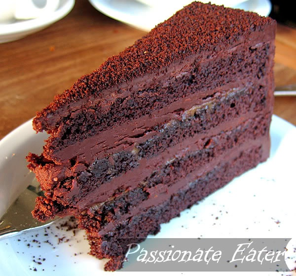Tartine's devils food cake, made with thick, brownie-like cake layers ...