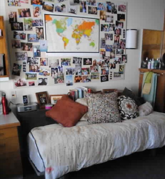 Dorm room decor dorm room college pinterest for Dorm living room ideas