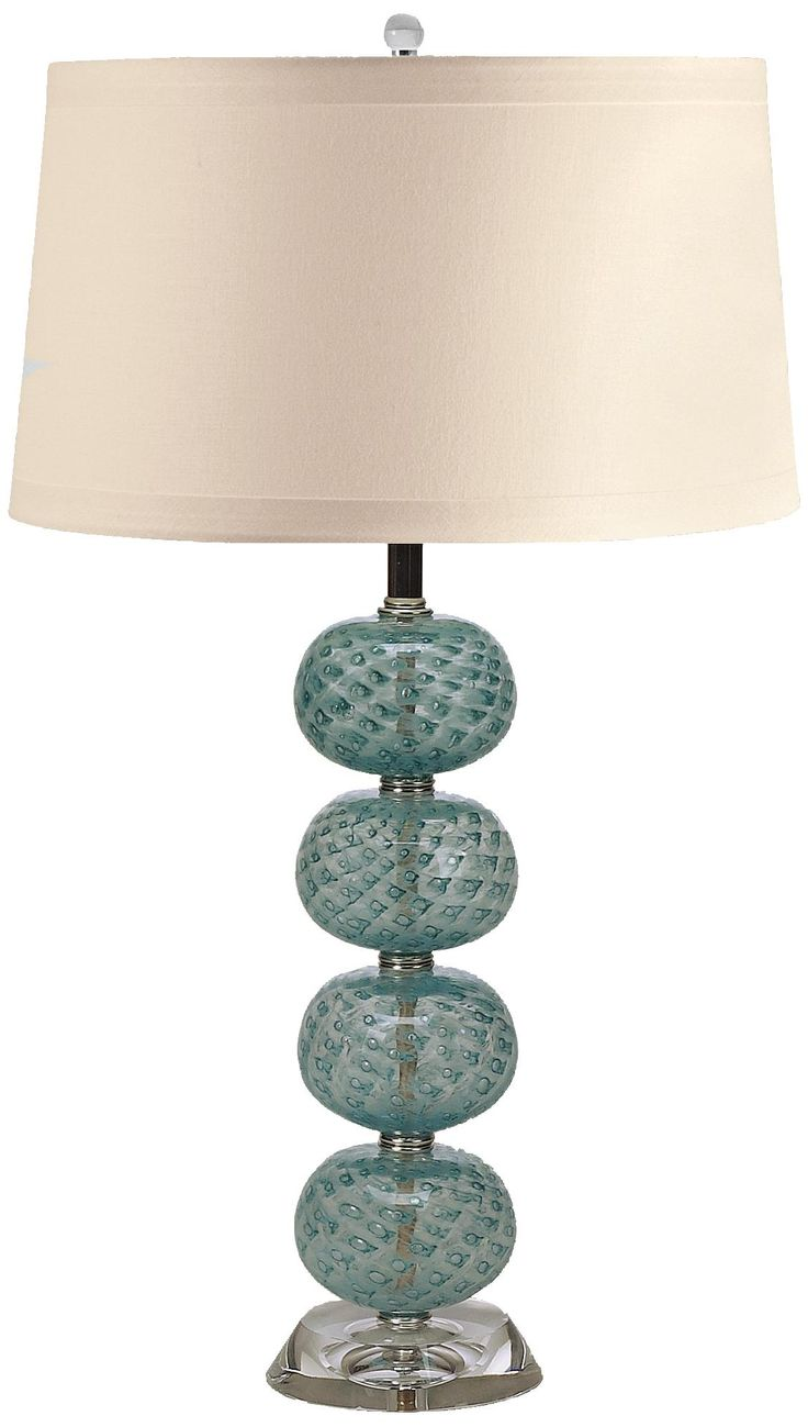 aqua hand blown glass ball table lamp. Black Bedroom Furniture Sets. Home Design Ideas