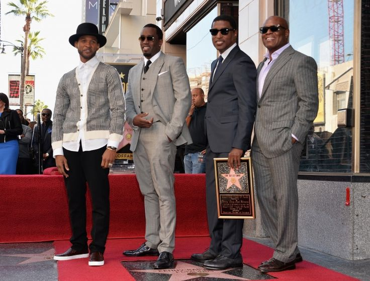 "That's what friends are for. Usher, Sean ""P. Diddy"" Combs and Antonio ""L.A."" Reid congratulate Babyface as he receives a star on the Hollywood Walk of Fame on Oct. 10 in Hollywood, Calif."