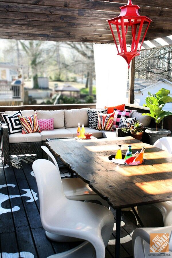 Covered Outdoor Space So Chic Outdoor Living Pinterest