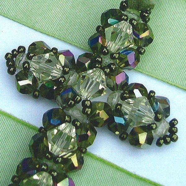 beaded cross pattern beaded pendants