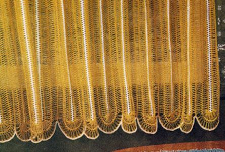 CROCHETED CAFE CURTAINS PATTERNS - Crochet Club
