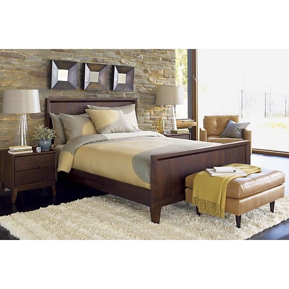 Steppe bed Crate and barrel bedroom furniture