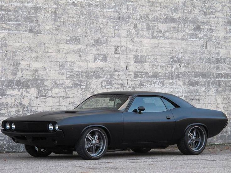 1970 Blacked Out Challenger Vehicles
