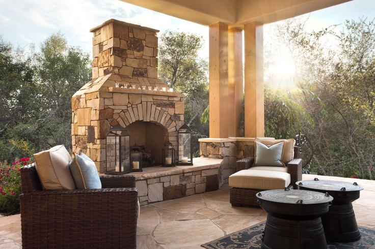 Pin living areas fireplaces on pinterest for Outdoor living areas with fireplaces
