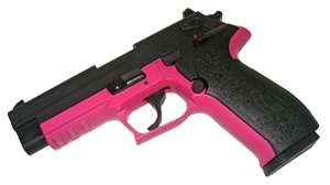 Black and hot pink Sig Sauer Mosquito. I wouldn't mind this one either. My favorite colors!!
