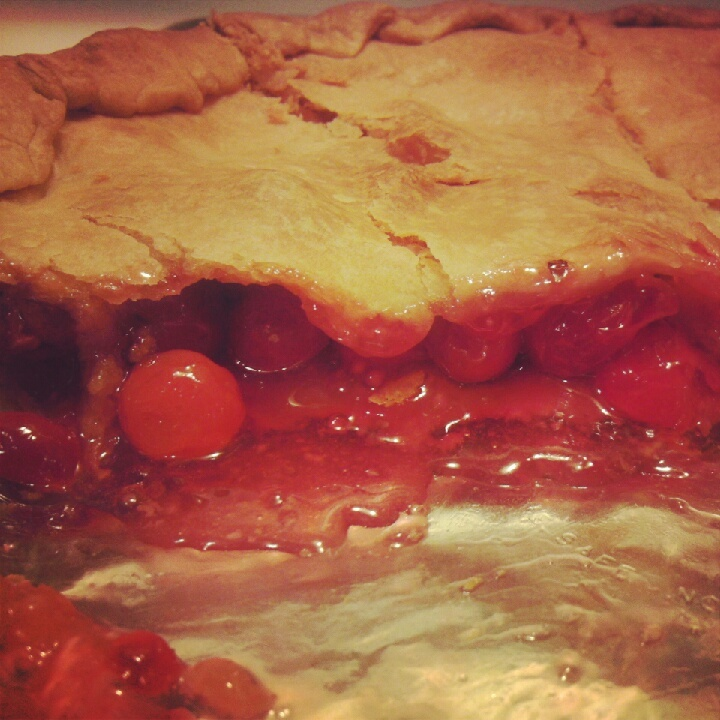 Baked Fresh Cherry Pie Recipe — Dishmaps