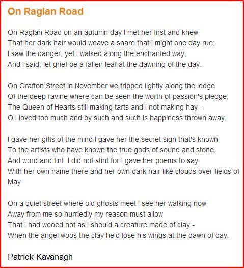 poetry of patrick kavanagh essay