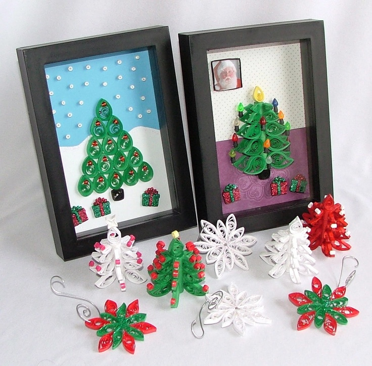 Christmas quilling projects quilling pinterest for Quilling craft ideas