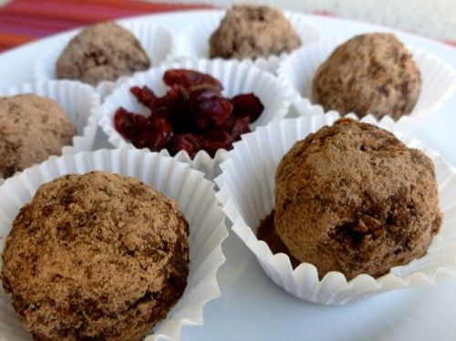 Skinny Cranberry Chocolate Truffles - Simple Nourished Living