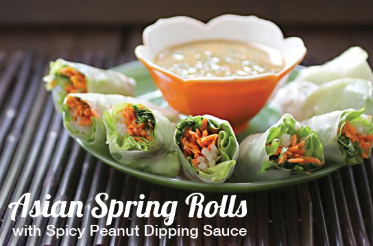 Vegan Heritage Press Blog: Asian Spring Rolls with Spicy Peanut Sauce