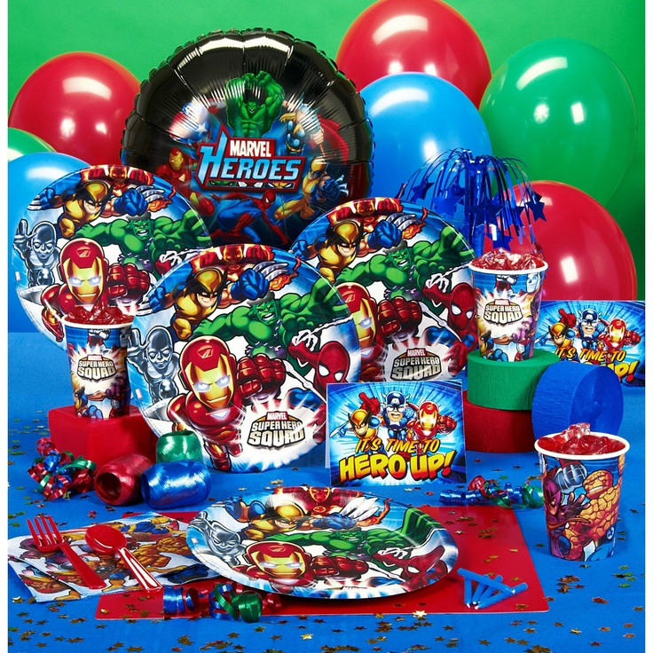 Super Hero Squad  Andres 5th birthday  Pinterest