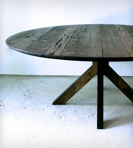 Round Reclaimed Wood Dining Table For The Home Pinterest