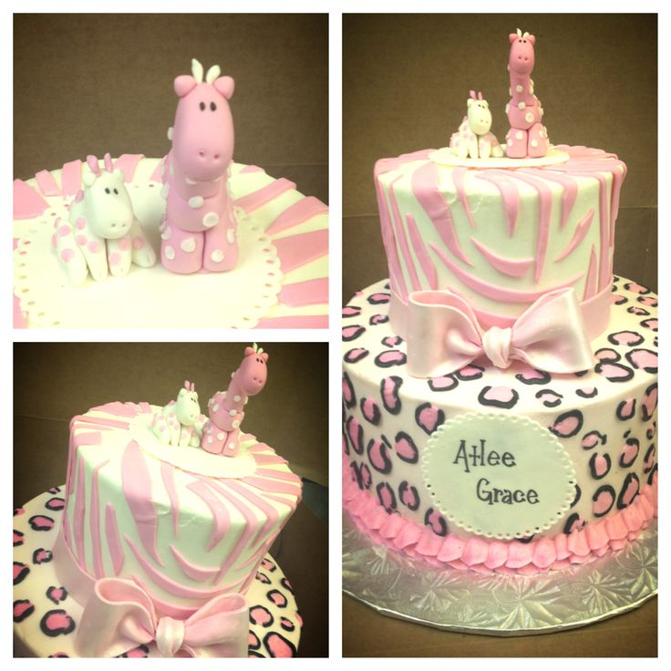 pink safari baby shower cake cakes done by me pinterest