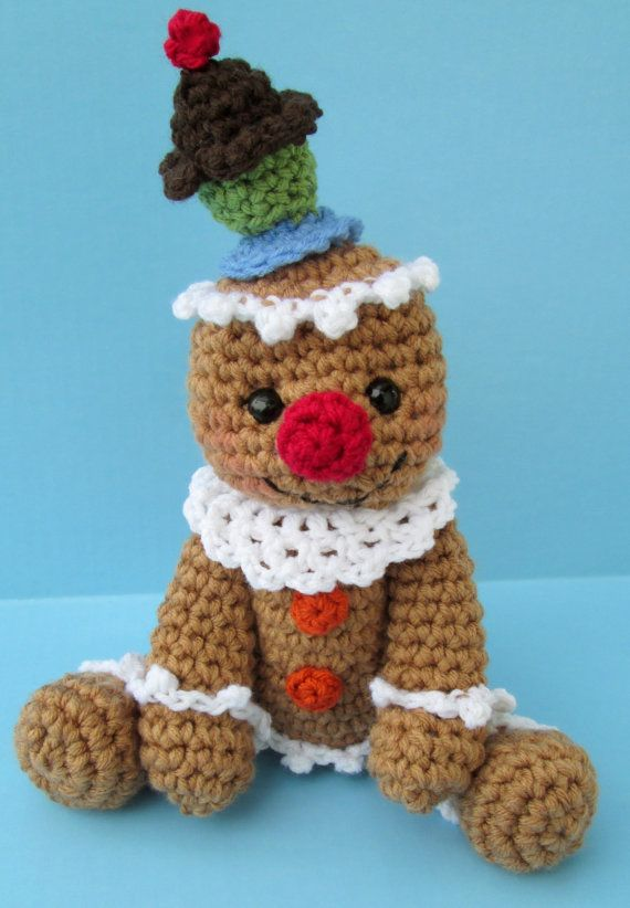 Cute Gingerbread Man With Cupcake Hat Crochet