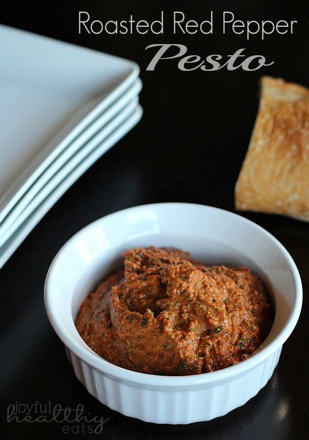 Roasted Red Pepper Pesto #redpepper #pesto #homemade