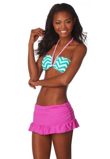 Maurices Coupons: reversible floral and chevron print bandeau swim top ...
