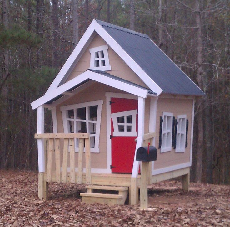 raised big playhouse with loft and interior package