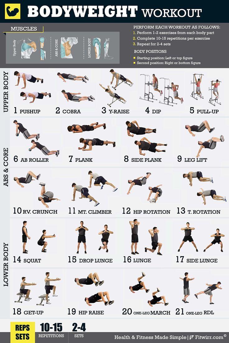 Упражнения в домашних условиях без инвентаря