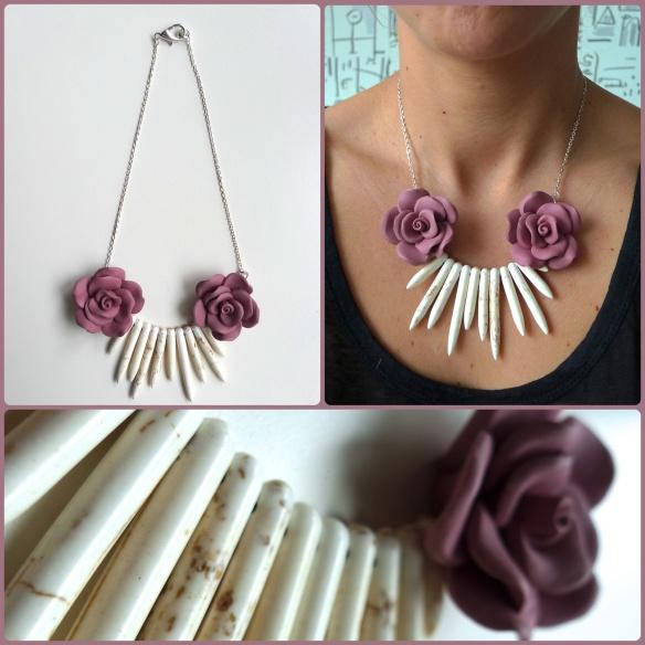 collar flores de goma | Necklaces | Pinterest