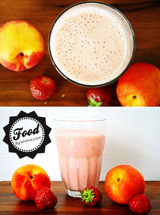 banana, nectarine and strawberry smoothie recipe...yogurt, a little ...