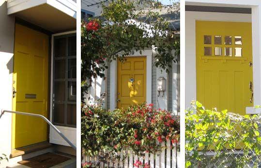 Yellow Front Doors Lake House Ideas Pinterest