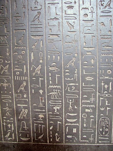 "hieroglyphics writing Egyptian hieroglyphs are among the oldest writing systems in the world, dating back some 5,200 years known in ancient egyptian as the ""language of the gods"" and."