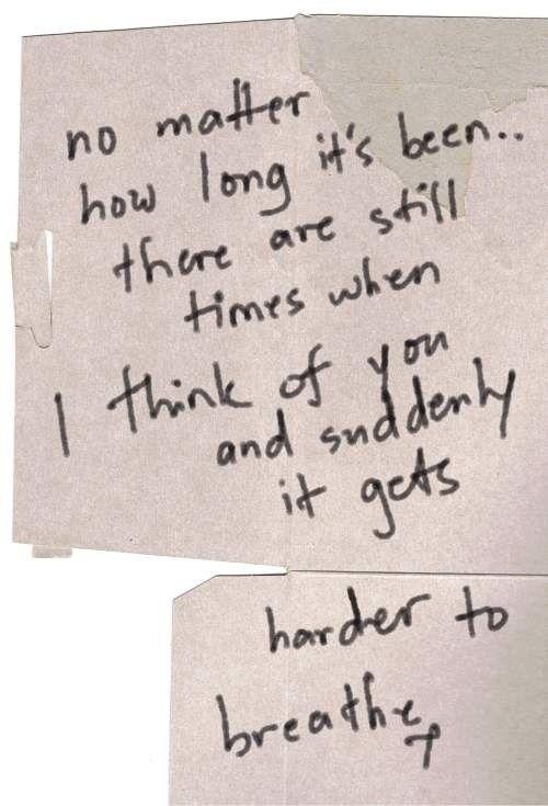 no matter how long it's been.