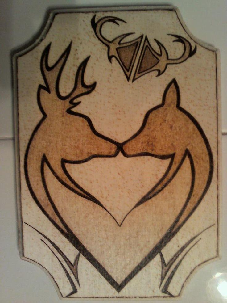 Two Deer Wood Burning DIY Ideas Pinterest