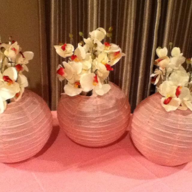 Paper lanterns as centerpieces centerpiece wreaths
