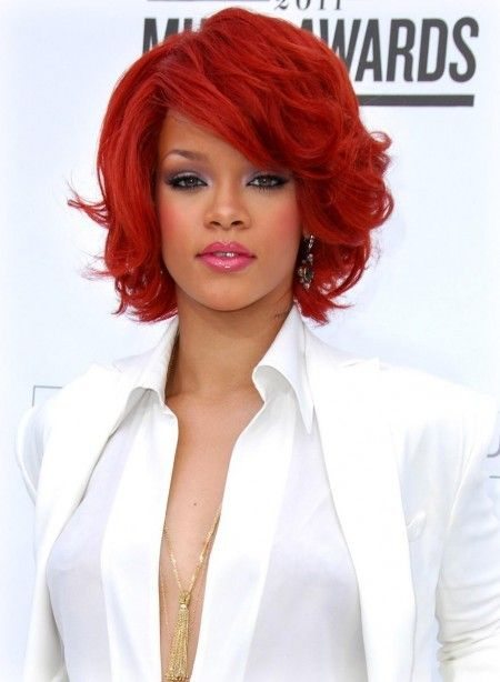 rihanna red hairstyles : Rihannas red hair Rihannas Hair Pinterest