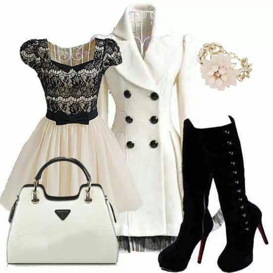 Excellent Coat Pea Coat Black Jacket Scarf Dress Peacoat Dress - Wheretoget