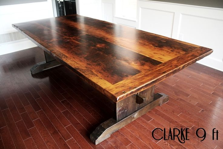 Pin by reclaimed wood furniture by hd threshing floor furniture on re - Kitchen table reclaimed wood ...