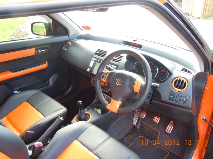 modified swift orange interior suzuki swift pinterest. Black Bedroom Furniture Sets. Home Design Ideas