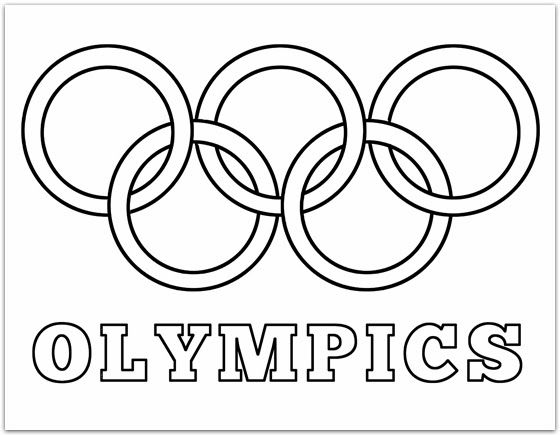 free olympic coloring pages - photo#4