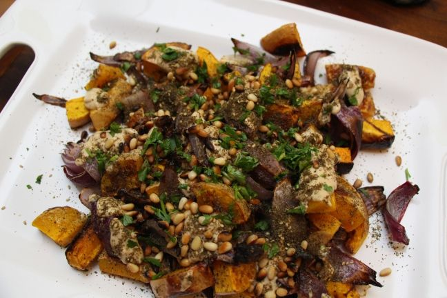 Roasted Butternut Squash And Red Onion With Tahini And Za'Atar Recipe ...