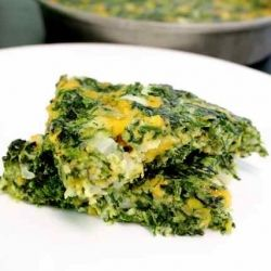 Cheesy spinach squares and easy and tasty!