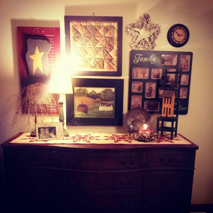 Primitive living room living room pinterest for Primitive living room ideas