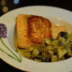 Seared Salmon with Indian-Inspired Cream Sauce Allrecipes.com