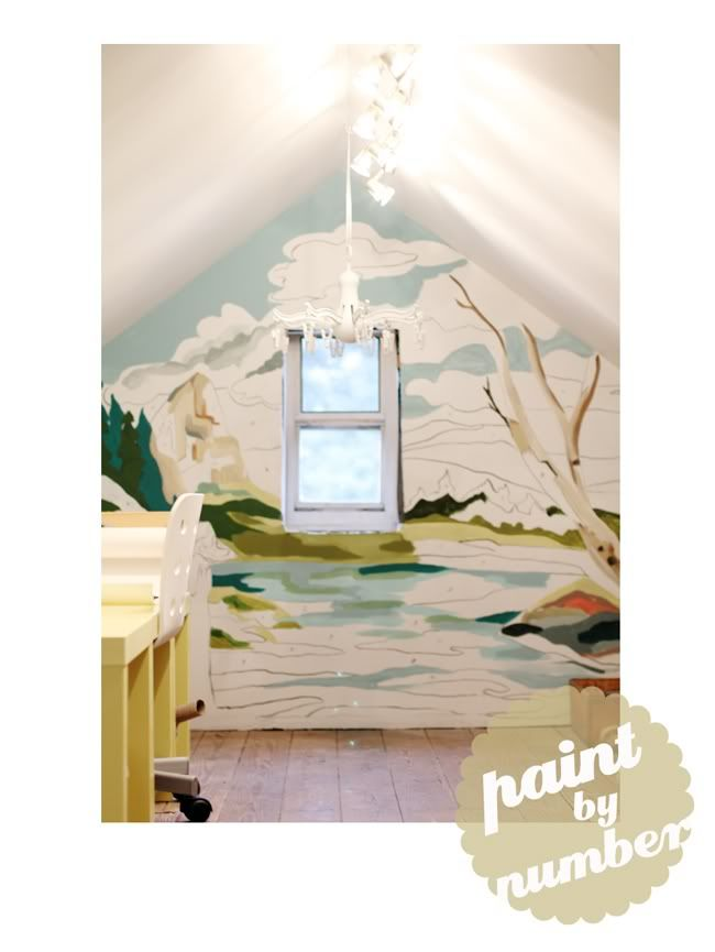 paint by number wall mural frames amp walls pinterest project vintage paint by number mural camp wandawega