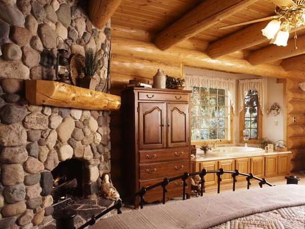Master Bedroom Wow Log Home Beauty Pinterest