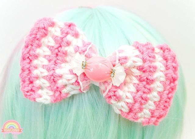 crochet group projects Crochet bows Pinterest